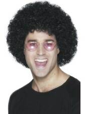 Short Black Afro Wig, Afro Wig. Economy Fancy Dress Accessory #AU