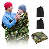 2 Pack Camo Double Emergency Sleeping Bag Outdoor Survival Camping Hiking Travel