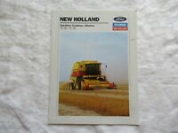 1988 Ford New Holland TR-86 TR-96 twin rotor combines windrow brochure