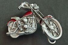 MOTORCYCLE BIKE BIKER CUTOUT SHAPED BELT BUCKLE BERGAMOT BRASS WORKS 1979 USA