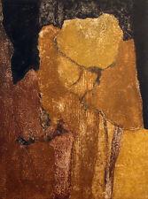 Martha Slaymaker illegible title Signed Collagraph Etching southwestern Fine Art