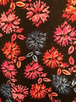 LuLaRoe Sarah Duster Sweater Cardigan S Small Black Pink Red Blue Floral NEW