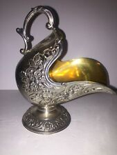 VINTAGE LEONARD JAPAN SILVER PLATE SCUTTLE  SUGAR BOWL CANDY DISH WITHout SCOOP
