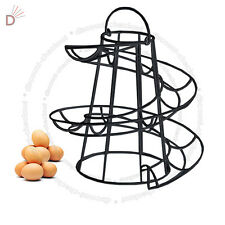 Helter Skelter Spiral 18 Egg Holder Swirl Storage Kitchen Twist Black Stand UKDC