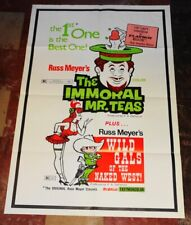 IMMORAL MR. TEAS Russ Meyer combo 1sheet w/ WILD GALS OF THE NAKED WEST