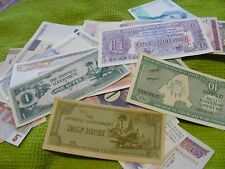 Lot of 22 uncirculated World Banknotes, all diff...2 x Britain;+Greece,Viet,etc.
