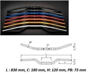 Manubrio Ergal Alluminio Arancione 28 Piega Alta KTM EXC 125 250 300 350 400