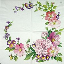 4x Paper Napkins for Decoupage Decopatch Craft Flower Garland