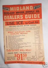 Vtg Midland Motor Supply Dealers Guide Chicago Fans Air Coolers Tools 1920's 30s
