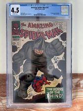 Amazing Spider-Man #41 CGC 4.5 Off-White Pages 1966 Marvel Comics 1st Rhino