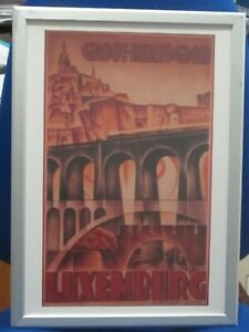 Luxembourg Art Deco Framed Travel Poster  of 1930 by Rabinger