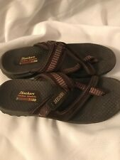 Skechers Reggae Ziggy Thong Sandals Women's 10 Brown
