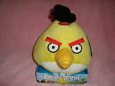 """Yellow Angry Birds Plush 2010 Common Wealth 8"""" tall x 7"""" wide W/tags"""