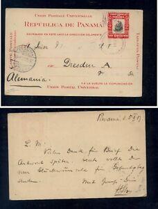 Panama  postal  card  to  Gremany   1907