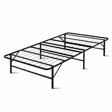 Artiss Foldable King Single Size Metal Bed Frame - Black