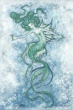 "Amy Brown Art Print 6""x9"" Water Nymph Green Blue Mermaid Ocean Sprite Fantasy"