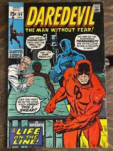 Daredevil #68 & 69 lot of 2 Bronze Age Marvel Comics FN+ / VF- Black Panther