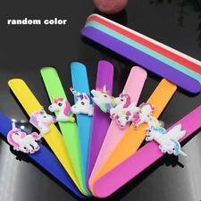 1Pc Silicone Unicorn Slap Bracelet Wristband Kids Adults Fashion Jewelry Gift