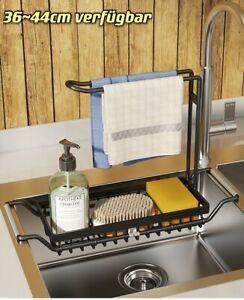 Spülbecken Organizer Küche Küchenutensilienhalter Schwamm Halter einstellbar de