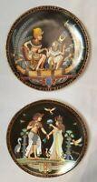 Lot of 2 Osiris Porcelain Plates 1991 - The Legend of Tutankhamun Made In Egypt