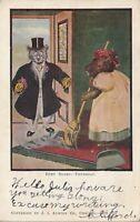 """1907 Busy Bears Novelty Postcard - """"Thursday"""" J.I. Austen Co. Chicago #429"""