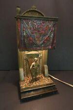 "Anton CHOTKA Large 13""1/2 Lamp Cold Painted Vienna Bronze Orientalist"