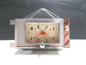 1958 58 Ford Clock Serviced Works Perfectly Custom Fairlane Beautiful Chrome!