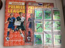 RARE Complete Merlin Premier league 96 sticker set & empty album with binder