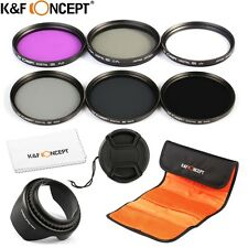 K&F Concept 58mm UV CPL ND 2 4 8 Lens Filter Kit for Canon Sony Nikon DSLR SLR