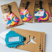 colorful unicorn Travel Label ID Holder tags luggage tags Baggage Tag anime