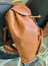 PALOMA PICASSO*RARE*Cognac100% Leather unlined Slingbag Backpack FREESHIP