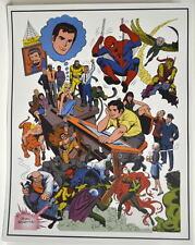 JOHN ROMITA SPIDER-MAN COLLAGE Pin Up 70's Art MARVEL