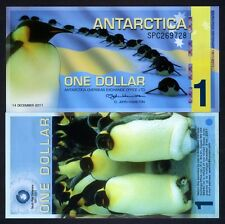 Antarctica, $1, 2011, Polymer -> Commemorative, Penguins