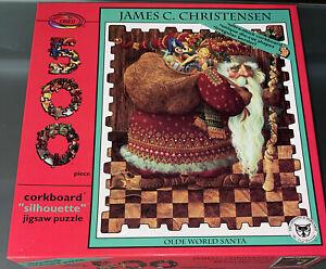 James C. Christensen Olde World Santa Artwork 500 Piece Corkboard Jigsaw Puzzle