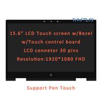 """HP ENVY X360 15M-BQ121DX 15M-BQ021DX 15.6"""" FHD LCD Touch Screen Assembly + Bezel"""