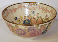 """Vintage 10"""" Hand Painted Andrea Sadek Chinese Asian Bowl Moss Rose Victoria"""