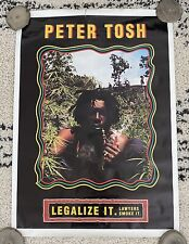 Vintage Peter Tosh Poster•Legalize It•The Wailers•Reggae•Rastafari•Weed Pot 420