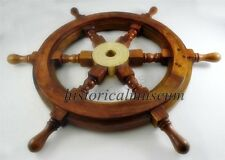 Wooden Ship Wheel Indian Rosewood HM362 Shipwheel Wall Decor Ship Wheel
