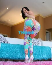 Kendra Lust - 10x8 inch Photograph #049 in Tight Multi Coloured Leggings & Heels