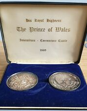 More details for prince of wales 1969  investiture silver 2 medal set, with cert. - vaughtons ltd