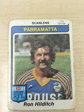 1980   SCANLENS   RON HILDITCH   PARRAMATTA   CARD No 116