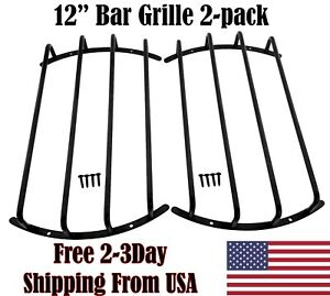 12 inch Bar Grill for Car Subwoofer & Speaker Audio Guard Grille in Black 2 PC