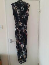 River Island - ladies sleeveless jumpsuit - black floral - 16