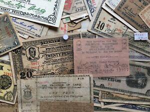 X59 WW2 PHILIPPINES Guerilla Banknotes Emergency Lot Iloilo Negros Mindanao JIMs