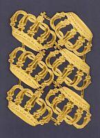 alter Bogen 6x Dresdner Pappe Papier Kronen - DIE CUT SCRAPS