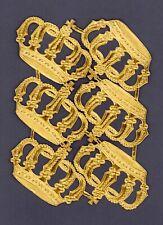 uralter Riesen Bogen Dresdner Pappe goldene Ministernchen DIE CUT SCRAPS