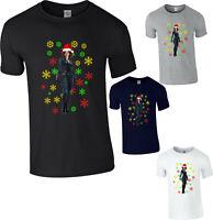 Black Widow Christmas T-Shirt, Avengers Marvel Superhero Xmas Santa Hat Gift Top