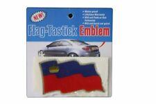 LIECHTENSTEIN COUNTRY  FLAG BUMPER STICKER FLAG-TASTICK EMBLEM..SIZE: 3.5 X 2 IN