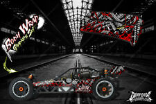"""HPI BAJA 5B SS WRAP GRAPHIC """"WAR MACHINE"""" HOP UP DECAL KIT FOR OEM BODY PARTS"""