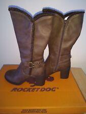 Rocket Dog Pantorrilla Botas De Invierno Marrón Vaquero/Estilo Motero UK 4 Nuevo En Caja